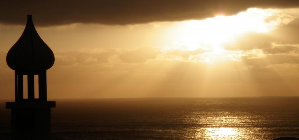 Puesta de sol en Sardina del Norte, Gáldar, Gran Canaria. Imagen para la página de Eficiencia energética en Canarias.