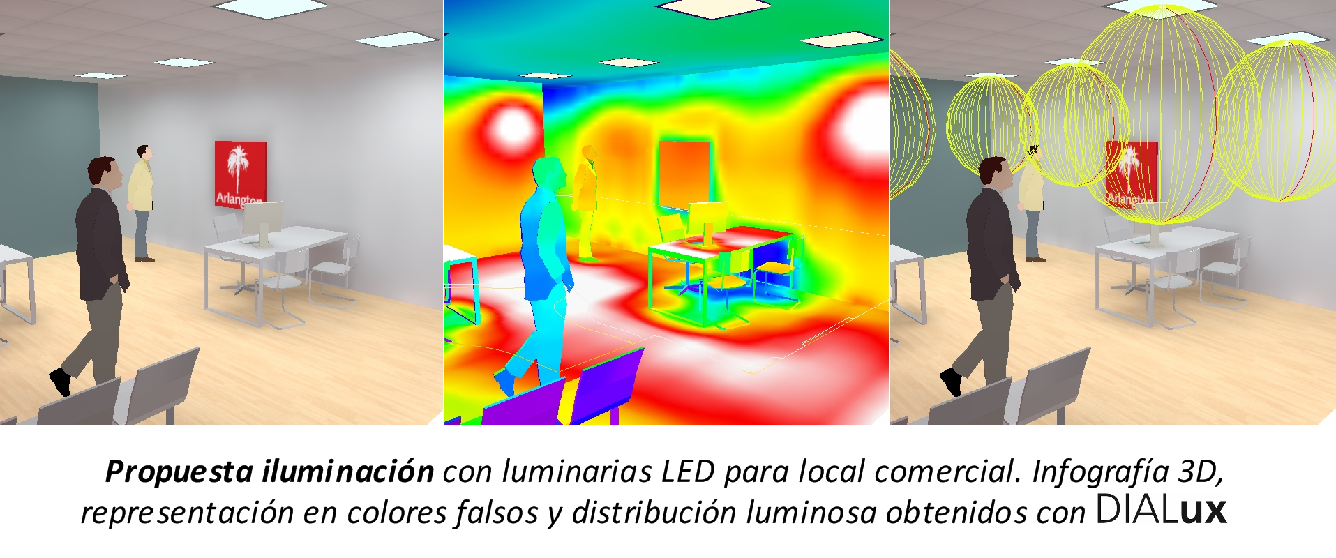 Propuesta LED local comercial